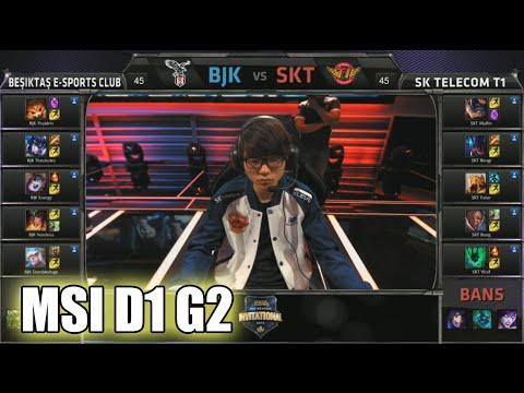 Beşiktaş vs SK Telecom T1 | MSI Group Stage Day 1 Mid Season Invitational 2015 | BJK vs SKT 60FPS
