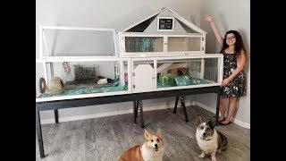 9'x4' GIANT DIY Guinea Pig Cage Tour