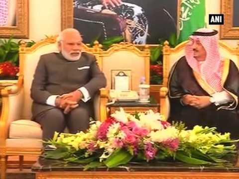 PM Modi arrives in Riyadh