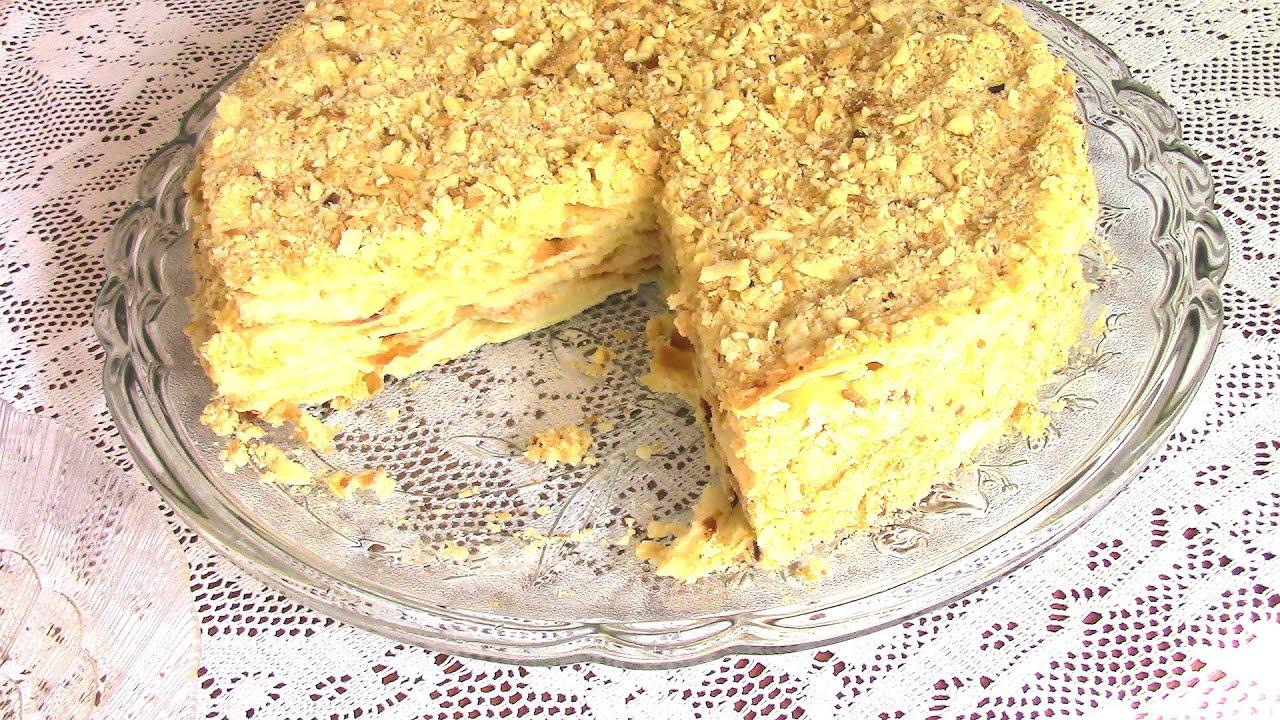Торт наполеон рецепт с заварным кремом
