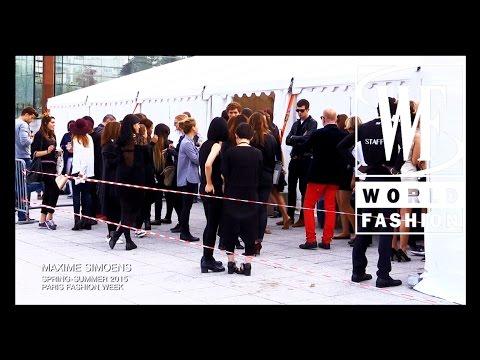 Backstage Maxime Simoens Spring-Summer 2015 Paris Fashion Week