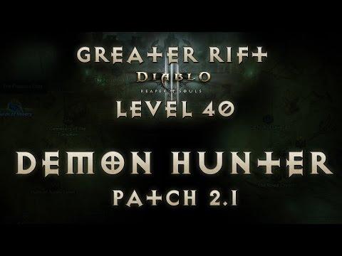 Diablo 3 Reaper of Souls Physical Demon Hunter Greater Rift Level 40 (Solo) Patch 2.1 EU Live