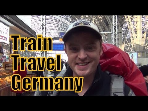 Taking the train in Germany from Frankfurt to Berlin ...