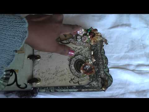 Scrapbooking: Vintage, shabby chic mini album