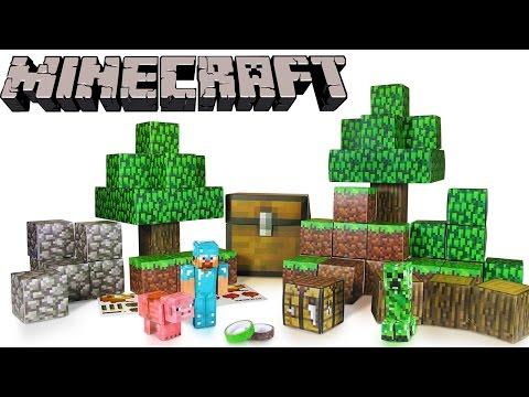 Little Kelly - Toys & Play Doh : MINECRAFT PAPERCRAFT! (Minecraft,mc toys,creeper toy)