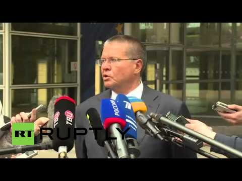 Belgium: Russia's Ulyukaev leaves EU-Ukraine meeting with