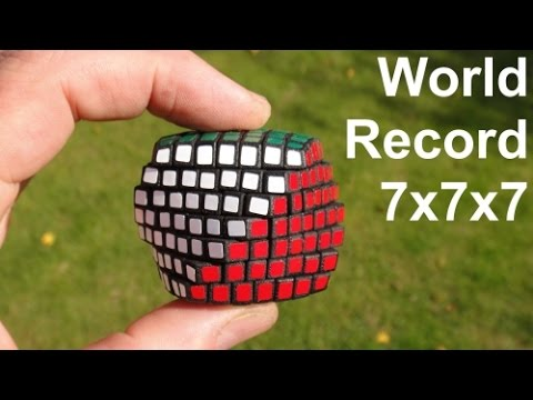 *Word Record* Smallest 7x7x7 Rubik's Cube Puzzle ever made