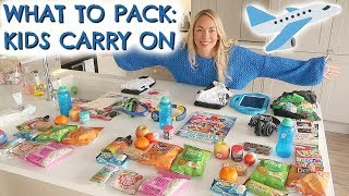 WHAT TO PACK: KIDS CARRY ON  |  OUR LONGEST FLIGHT EVER