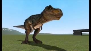 Garry's Mod Minecraft steve visits Jurassic Park Trex Paddock