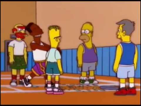 Llego Carlos,llego Carlos el negro que sabe jugar Basquetball - Los Simpson (completo)