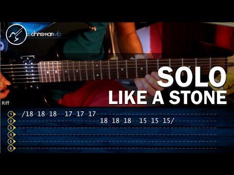 Como tocar LIKE A STONE en Guitarra Electrica SOLO HD Tutorial