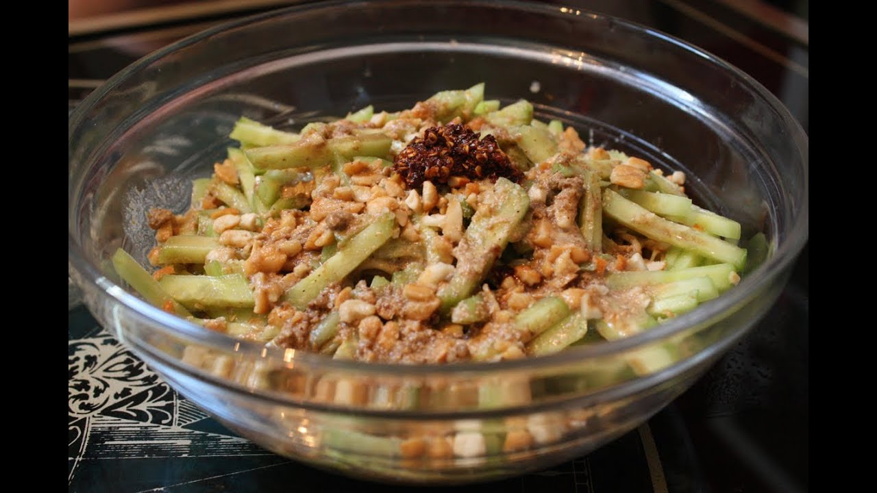 salade chinoise de nouilles et concombre au tahin la