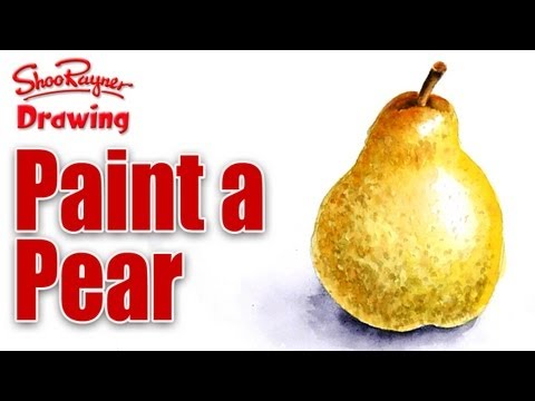 How to paint a Pear in Water Colour