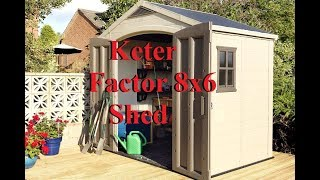 Keter Factor 8x6 Shed מחסן גינה פקטור כתר
