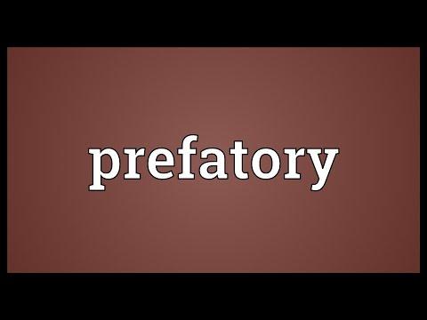 Header of prefatory