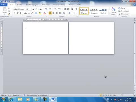 crear un diptico en 2 grado con word2010