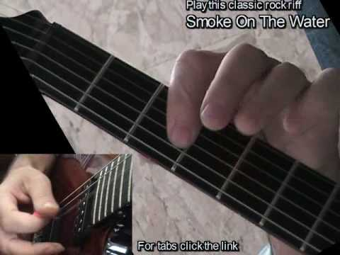 Smoke On The Water - Deep Purple - learn how to play rock metal riffs, electric guitar lesson & tab Video