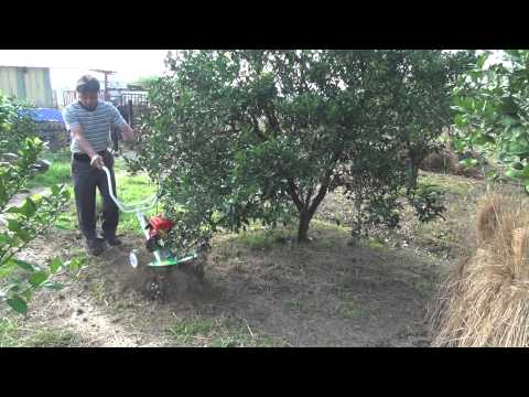 CY80 in lemon plantation (tilling/mixing fertilizer, hard soil) 檸檬園硬土質施肥鬆土