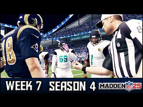 Madden 25 Rams Connected Franchise: Week 7 vs Jaguars (Season 4)