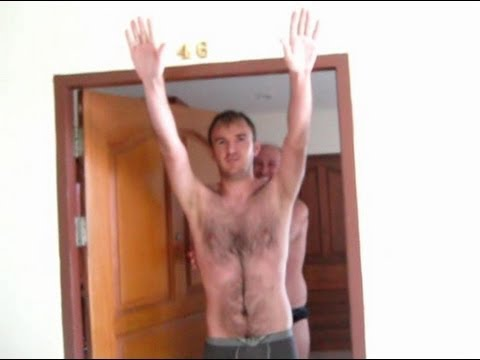 Criminal homo Russian with Hitler salute and double Hitler salute (Oct 14, 2013)