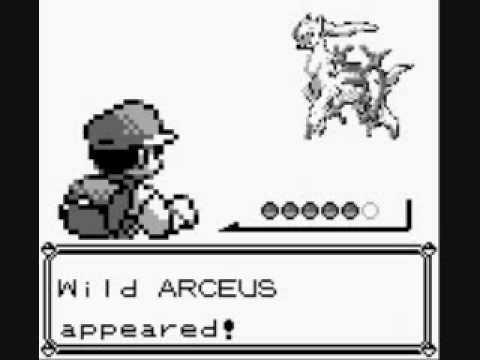 Pokemon Blue: Wild ARCEUS Appeared! - YouTube A Wild Pokemon Appears