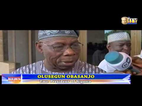 President Buhari Meets With Former President Obasanjo On Crisis In North East