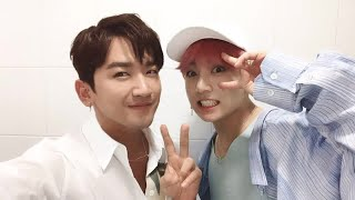 'Flower Boy Bromance' costars Shinhwa's Minwoo and BTS's Jungkook reunite at 'Inkigayo'