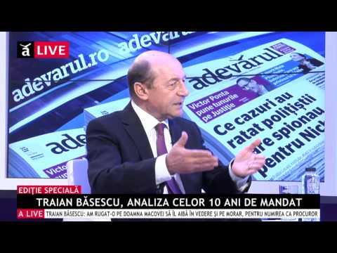 Interviu-Eveniment. Traian Băsescu, analiza celor 10 ani de mandat