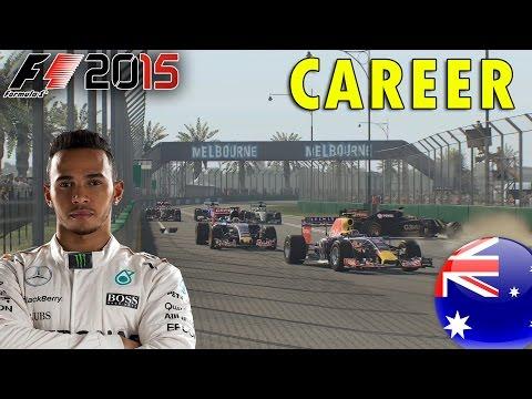 F1 2015 Career Mode | Lewis Hamilton: Australian GP (Hammer Time)