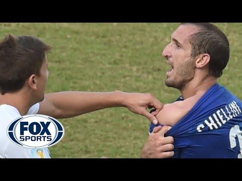 Luis Suarez Bites Italian Player At World Cup - @TheBuzzeronFOX