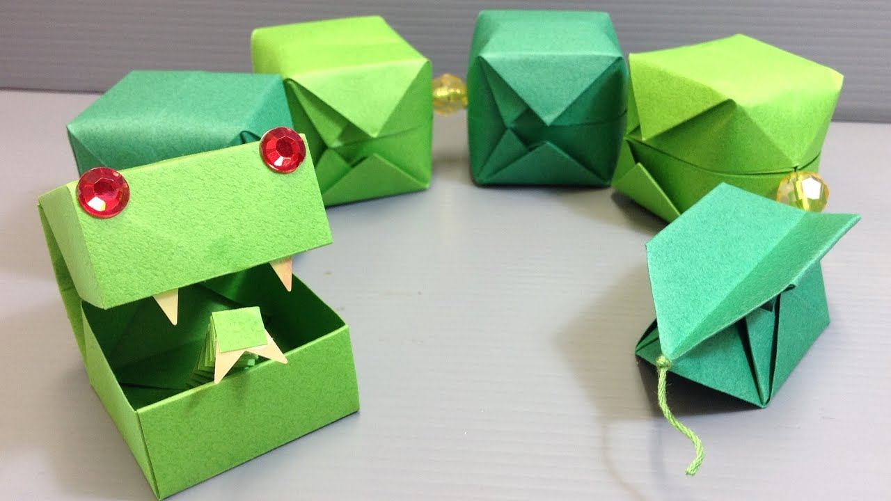 CUTE! Origami Snake Easy Craft Project - YouTube - photo#11