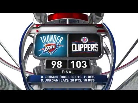 Oklahoma City Thunder vs Los Angeles Clippers - March 2, 2016