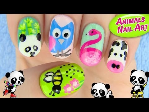 Animals Nail Art! 5 Nail Art Designs video