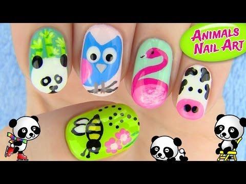 Animals Nail Art! 5 Nail Art Designs