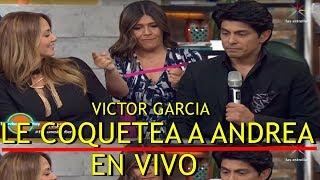 Víctor García LE COQUETEA a Andrea Legarreta EN VIVO en HOY