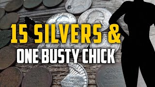 Busty Chick Found While Metal Detecting! 15 Silvers | Jewelry | & Relics Too!