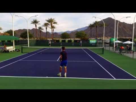 Feliciano Lopez and Sam Groth 4K - BNP Paribas Open 2015