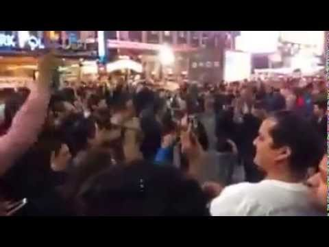 narendra modi WON USA people Indian Elections at Times Square