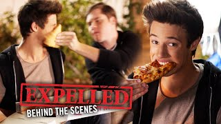 Pizza Slap with Matt Shively & Cameron Dallas! Expelled Movie Behind the Scenes