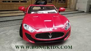 Xe Ô Tô Điện Trẻ Em Maserati CT-528 Ghế Da, Bánh Cao Su Sang Trọng
