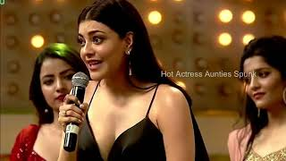 Kajal Awards function Hot Cleavage boob Show