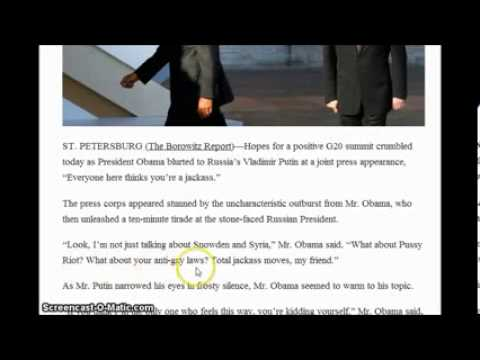 ▶  OBAMA 10 MINUTE RANT CALLS PUTIN A JACKASS AND