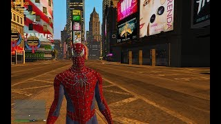 GTA 5 - Spiderman Mod - Swinging in Liberty City
