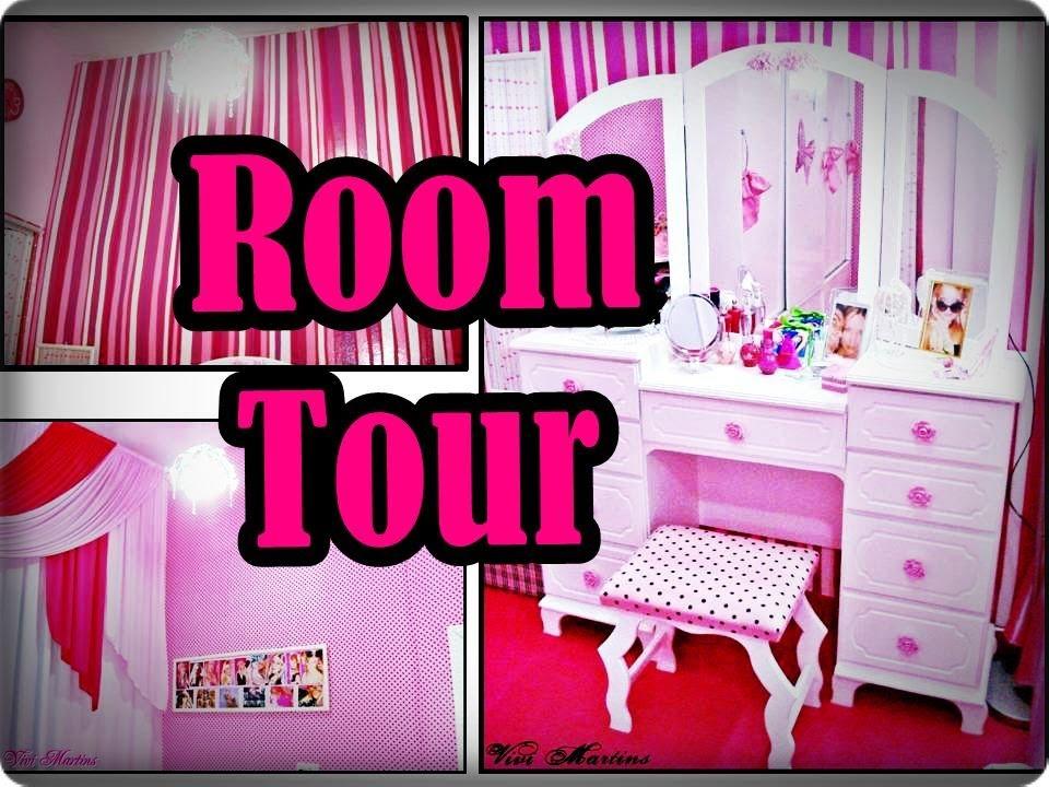 Tour pelo Meu Quarto Rosa YouTube ~ Quarto Rosa Com Azul
