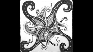 Weekly Zentangle® Tangle Video-FENGLE-July 27-August 3, 2015