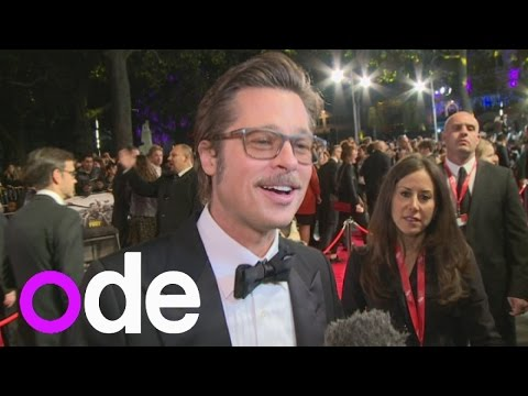 BRAD PITT INTERVIEW: Fury actor praises 'heroic' co-star Logan Lerman