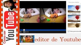 Cómo funciona el editor de youtube
