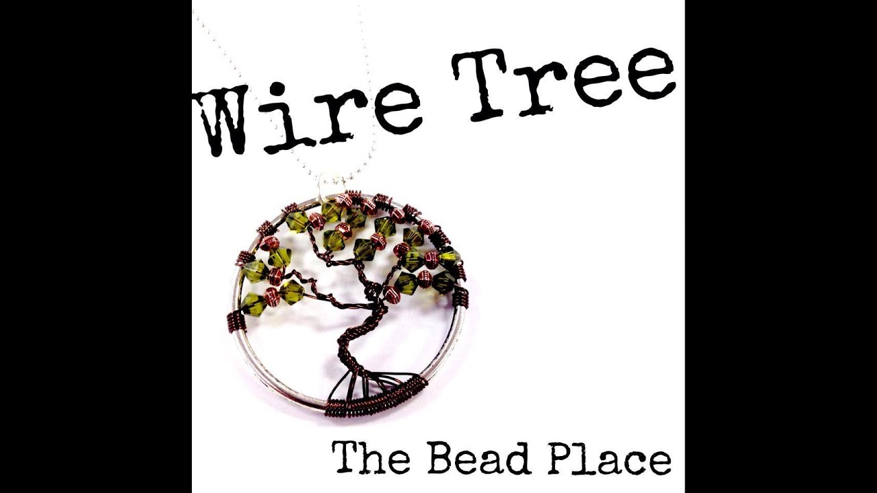 how to make a wire tree of pendant with the bead