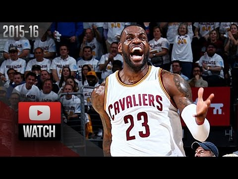 LeBron James Full Highlights vs Pistons 2016 Playoffs R1G2 - 27 Pts, HYPE!