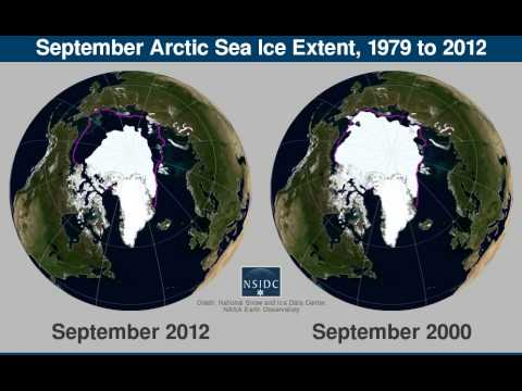 Arctic Sea Ice Extent, 1979-2012: From NSIDC